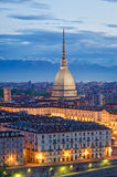 Turin (Torino), Mole Antonelliana and Piazza Vittorio Royalty Free Stock Images