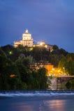 Turin (Torino), Monte dei Cappuccini Fotografering för Bildbyråer