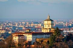 Turin (Torino) Monte dei Cappuccini e Chiesa di Santa Maria al Monte Royalty Free Stock Images