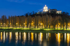 Turin (Torino), Monte dei Cappuccini and river Po Stock Photos