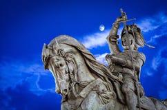 Turin Torino monument to Emanuele Filiberto Piazza San Carlo Stock Photo