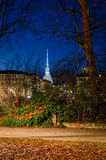 Turin (Torino) night view with Mole Antonelliana Stock Photos