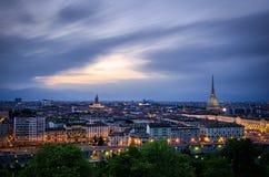 Turin (Torino), panorama élevé de définition Photos stock