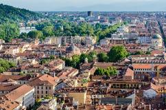 Turin (Torino), panorama Arkivbilder