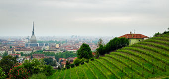 Turin (Torino), panorama from the hills Royalty Free Stock Photography