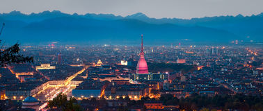 Turin (Torino), panoramic composition Stock Images