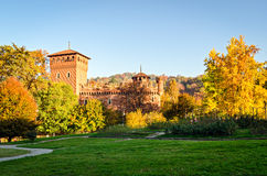Turin (Torino Parco del Valentino and Borgo Medievale) Royalty Free Stock Photo