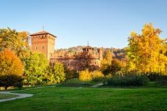 Turin (Torino Parco del Valentino et Borgo Medievale) Photo libre de droits