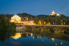 Turin (Torino), river Po, Grand Madre and Cappuccini Royalty Free Stock Photos