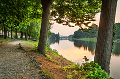 Turin (Torino), river Po and Valentino Park Stock Photography