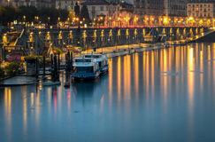 Turin Torino scenic view on Murazzi and River Po Royalty Free Stock Image