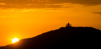 Turin (Torino), sunset on Basilica of Superga Stock Image