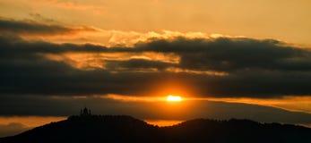 Turin (Torino) sunset over Basilica of Superga Royalty Free Stock Images
