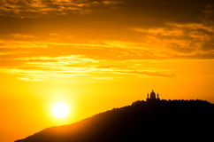 Turin (Torino), sunset on Superga Stock Image
