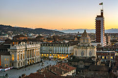 Turin (Torino), view from the Cathedral Tower Stock Photography