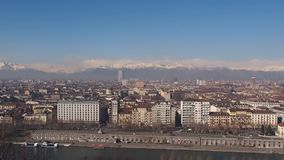 Turin view stock footage