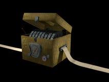 Turing Machine. Artistic illustration of a Turing Machine. Isolated on black background Stock Image