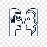 Turing test concept vector linear icon isolated on transparent b vector illustration