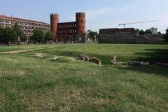 Turino il Porta Palatina immagine stock