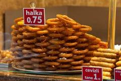 Turish halka. Istanbul Turkey. Turkish halka in Egyptian Market. Istanbul, Turkey stock image