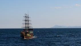 Turisk Gulet Sailing Ship near the Oldtown Harbour in Kaleici, Antalya - Turkey Stock Photo