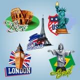 Turism d'icônes illustration de vecteur