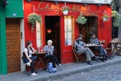 turism för 2 paris Arkivbilder