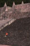 Turism i centrala pyramider i Egypten royaltyfri foto