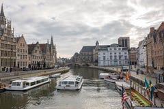 Turism i Ghent, Belgien Fotografering för Bildbyråer