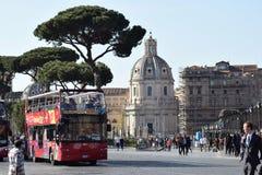 Turism i Rome, huvudstad av Italien arkivfoto