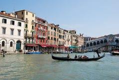 Turism i Venedig Royaltyfria Bilder