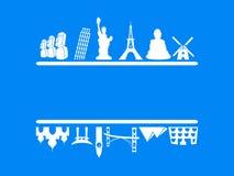 Turism- och loppram royaltyfri illustrationer