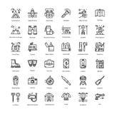 Turismlinjen symboler packar stock illustrationer