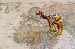 Turismo, cultura, riqueza do conceito do mundo árabe, mapa de países árabes imagem de stock royalty free