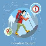 Turismo da montanha ilustração royalty free