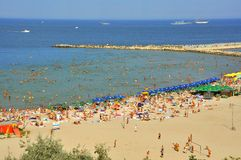 Turismo dal litorale del Mar Nero in Romania Fotografia Stock