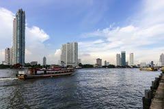 Turismo de Asiatique de Bangkok en las compras imagenes de archivo