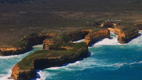 Turismo de Australia, opinión regional de los grandes apóstoles del océano doce Fotografía de archivo libre de regalías