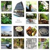 Turismo de Bali - collage de los centros turísticos Foto de archivo