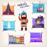 Turismo de Islândia Imagem de Stock Royalty Free