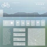Turismo de la ecología Web del vector e interfaz móvil ilustración del vector