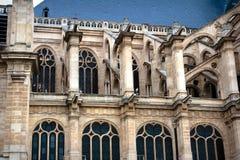 Turismo de París e iglesia del St Eustache Foto de archivo libre de regalías