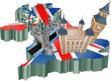 Turismo de Reino Unido Imagens de Stock Royalty Free