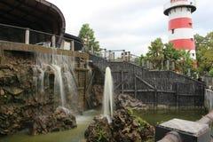 Turismo del agua de la bahía de Jogja en yagyakarta fotografía de archivo