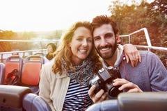 Turismo del bus di viaggio Fotografia Stock