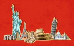 Turismo del mundo libre illustration