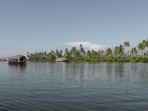 Turismo dello stagno di Alleppey nel Kerala Fotografia Stock Libera da Diritti