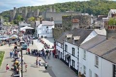 Turismo di Conwy Fotografie Stock