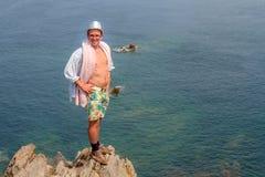 Turismo di Pointe du Grouin Fotografia Stock