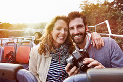 Turismo do ônibus do curso foto de stock
